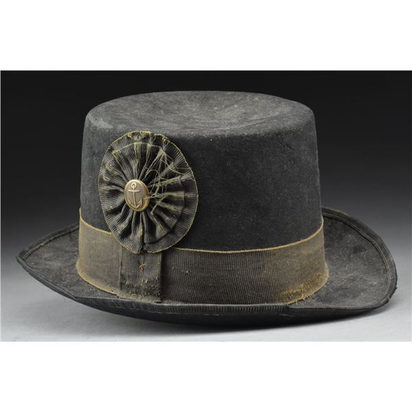 EARLY 19TH CENTURY NAVAL ROUND HAT.