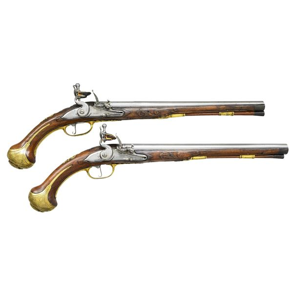 IMPRESSIVE LARGE EARLY 18TH CENTURY PAIR OF