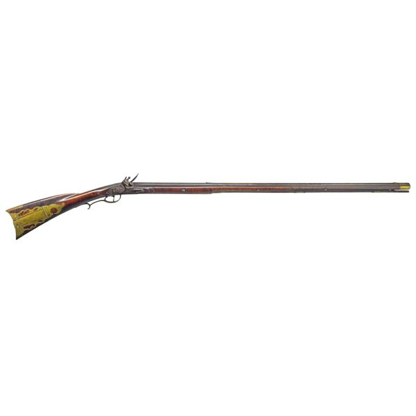 VERY NICE FLINTLOCK RIFLE BY GEORGE SMITH FROM NEW