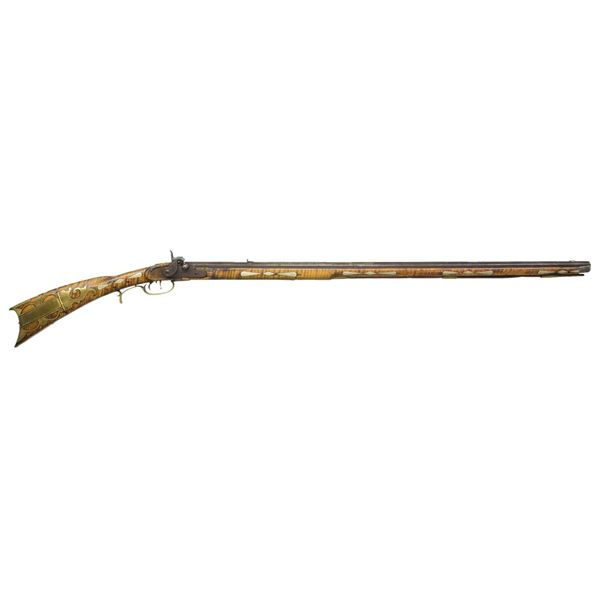 CURLY MAPLE STOCKED KENTUCKY RIFLE ATTRIBUTED TO