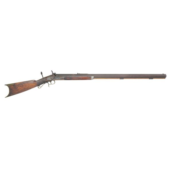 HEAVY BARRELED HALF STOCK PERCUSSION RIFLE BY P.