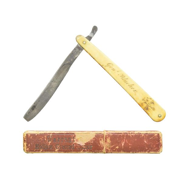 EARLY 1800S STRAIGHT RAZOR BELONGING TO GENERAL