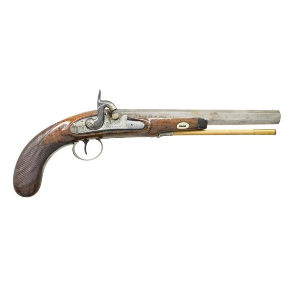 ENGLISH PERCUSSION PISTOL BY DAVY CONVERTED FROM