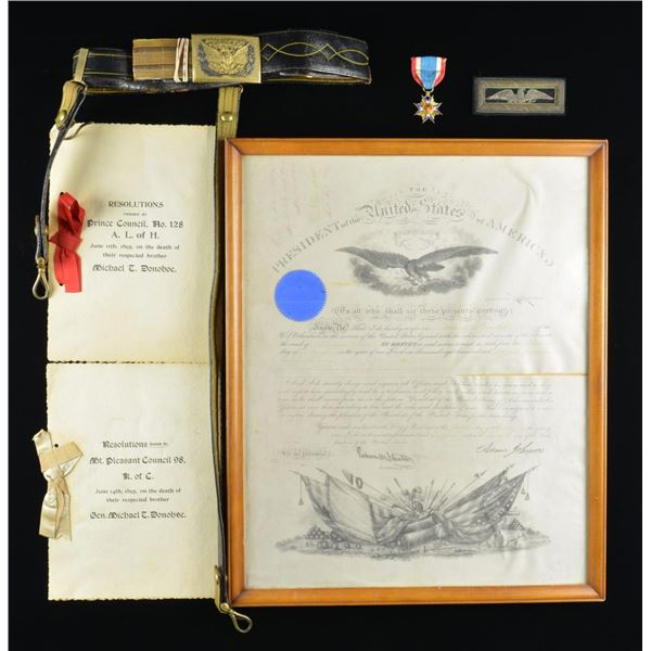 UNION COLONEL MICHAEL DONOHOE PRESIDENTIAL SIGNED