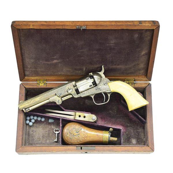NICKEL PLATED & FACTORY ENGRAVED COLT 1849 POCKET