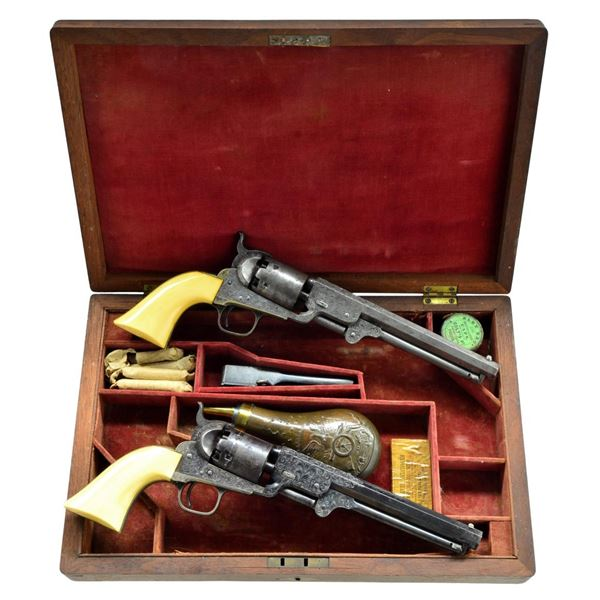 EXTREMELY RARE AND VERY FINE CASED PAIR OF GUSTAV