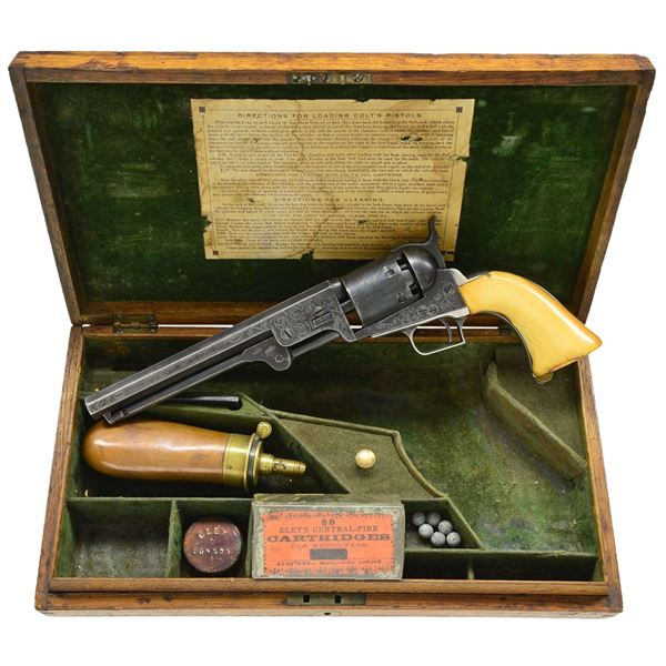 EARLY LONDON COLT NAVY REVOLVER WITH SCROLL