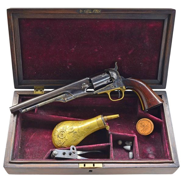 NICELY RESTORED EARLY COLT 1860 FLUTED ARMY 3