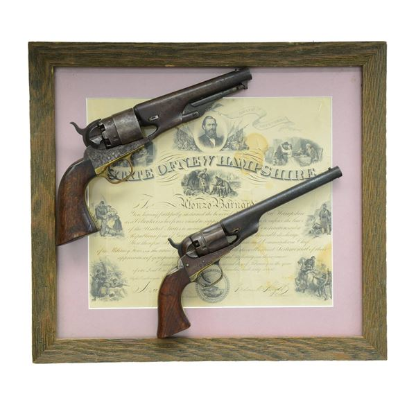 PAIR OF COLT REVOLVERS CARRIED BY ALONZO BARNARD,