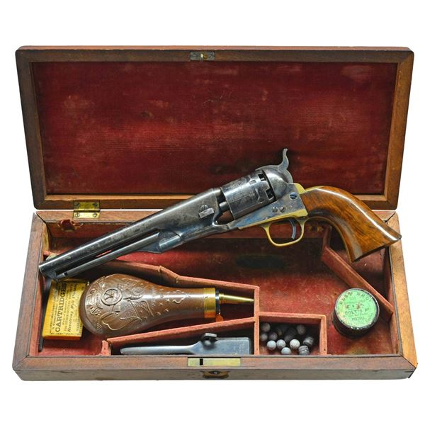 VERY FINE CIVIL WAR CASED COLT MODEL 1861 NAVY