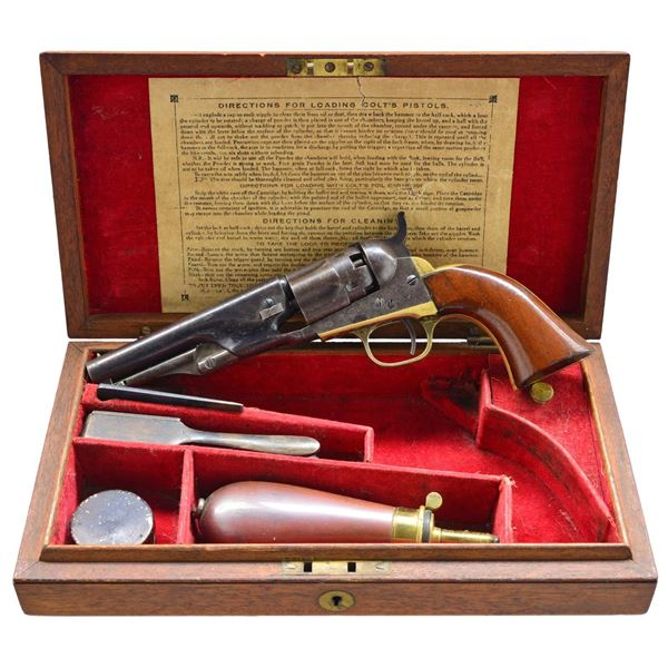 """CASED COLT 1862 POLICE REVOLVER WITH 4 1/2"""""""