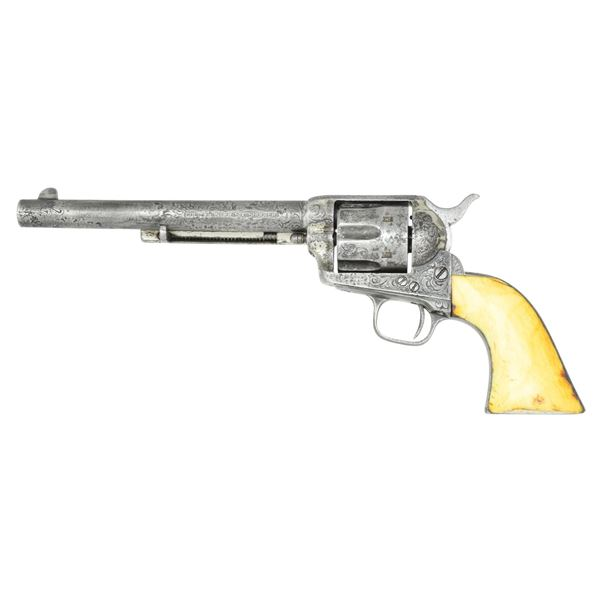 COLT FRONTIER SIX SHOOTER ENGRAVED SAA REVOLVER.