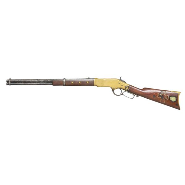 INDIAN TACKED MODEL 1866 WINCHESTER CARBINE.