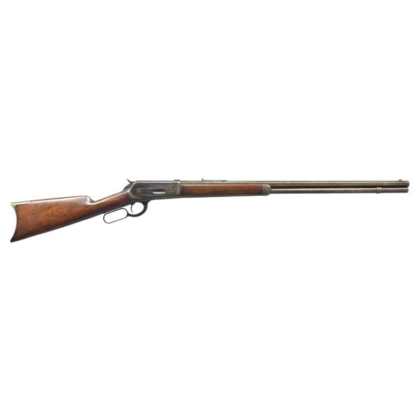 WINCHESTER 1886 EXTRA LONG LEVER ACTION RIFLE.
