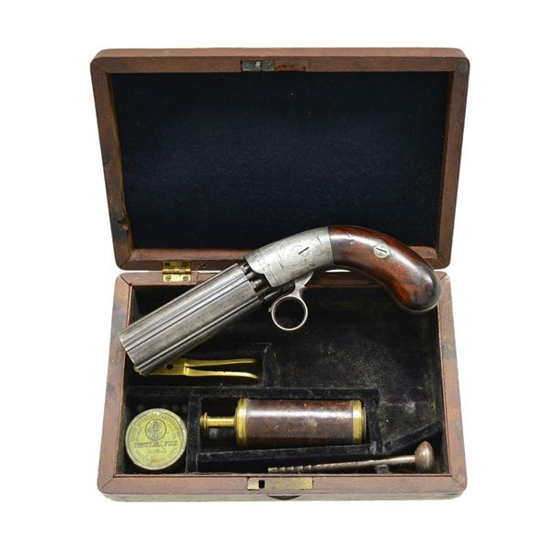 CASED BLUNT & SIMS RING TRIGGER PEPPERBOX.