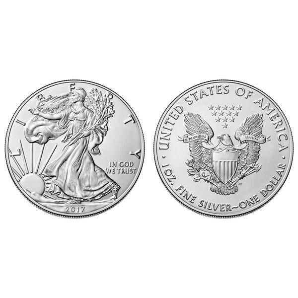 2017 American Silver Eagle .999 Fine Silver Dollar Coin