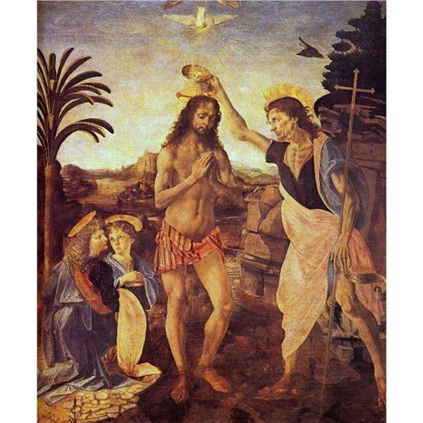 Leonardo da Vinci - Christs Baptism