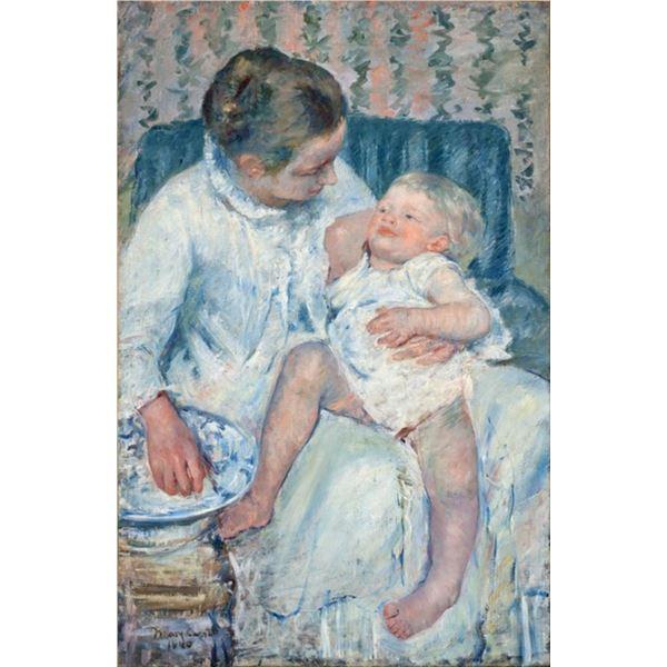 Cassatt - Mother About to Wash Her Sleepy Child