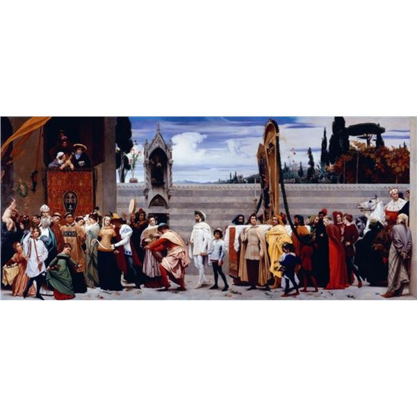 Frederic Leighton - Celebration of Madonna in Florence