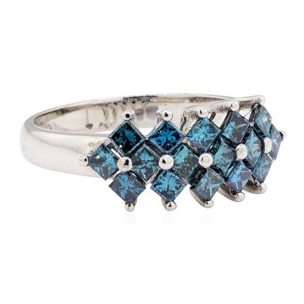 1.10 ctw Princess Cut Diamond Ring - 14KT White Gold
