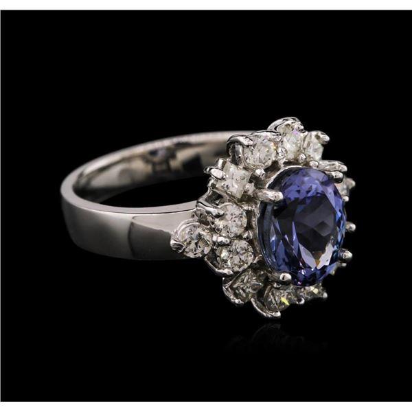 14KT White Gold 2.24 ctw Tanzanite and Diamond Ring