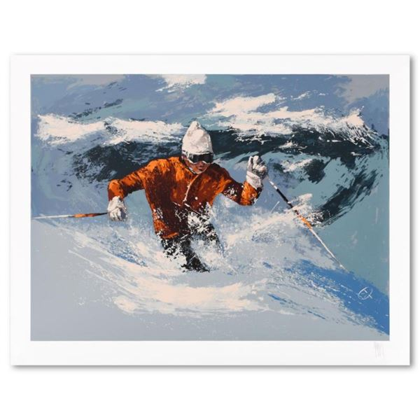 Back Bowls Skier by Mark King (1931-2014)