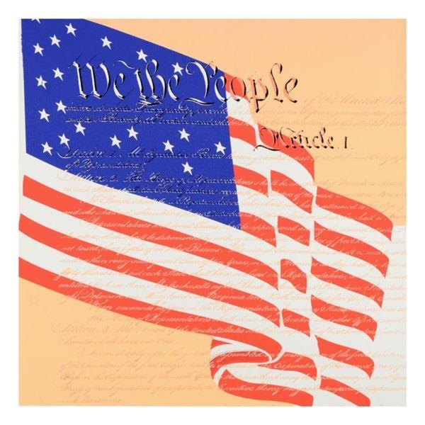 We the People by Steve Kaufman (1960-2010)