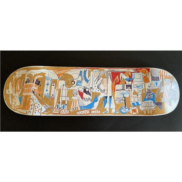 "Handpainted skateboard ""Players"" by Gino Perez"