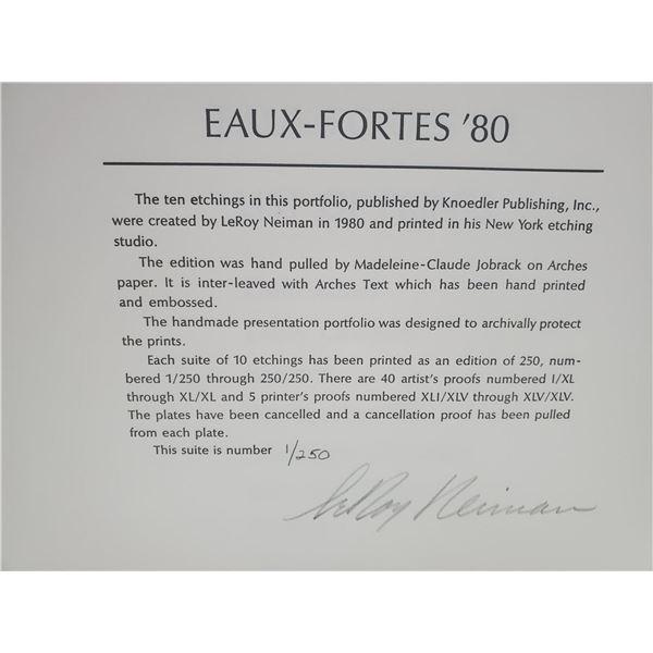 """Leroy Neiman """"Eaux Fortes"""" Suite 10pcs"""