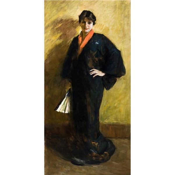 William Merritt Chase - The Blue Kimono