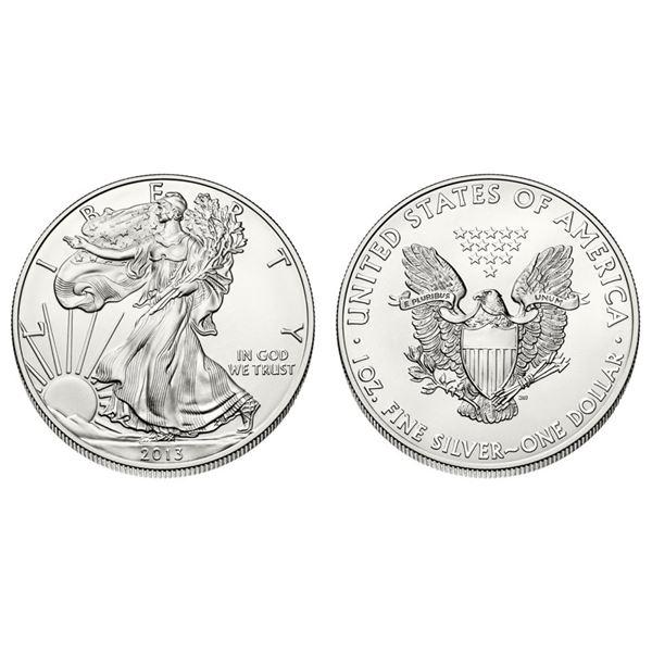 2013 American Silver Eagle .999 Fine Silver Dollar Coin