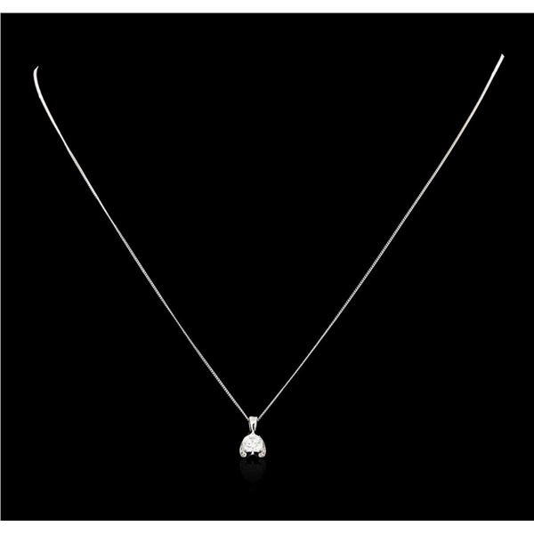 0.50 ctw Diamond Pendant And Chain - 14KT White Gold