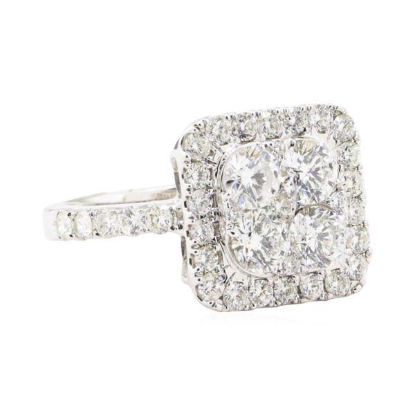 2.22 ctw Diamond Ring - 14KT White Gold