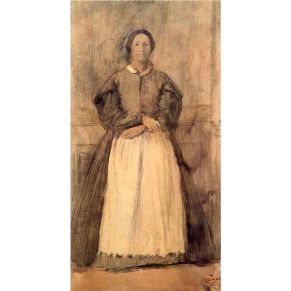 Edgar Degas - Portrait Of Rosa Adelaida Morbilli