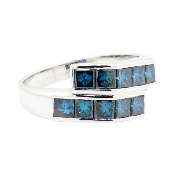 1.58 ctw Princess Cut Diamond Ring - 14KT White Gold