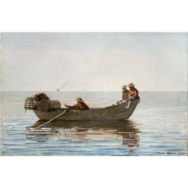Homer - Three Boys in a Dory with Lobster Pots