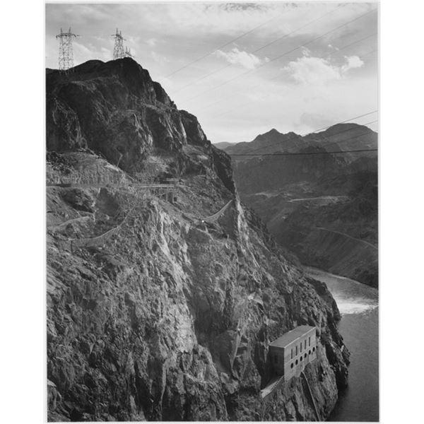Adams - Cliffs above Boulder Dam