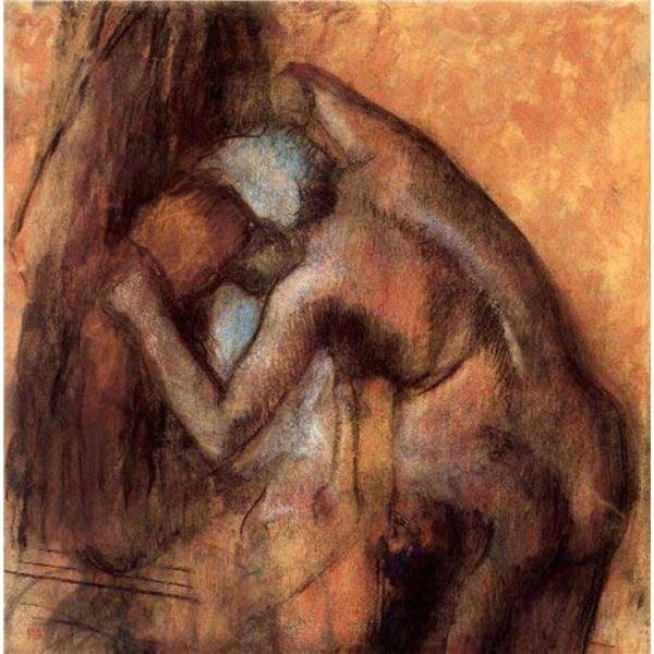 Edgar Degas - Female Act, With Hair-Drying