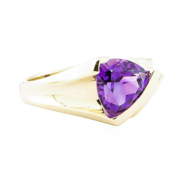 1.70 ctw Amethyst and Diamond Ring - 14KT Yellow Gold