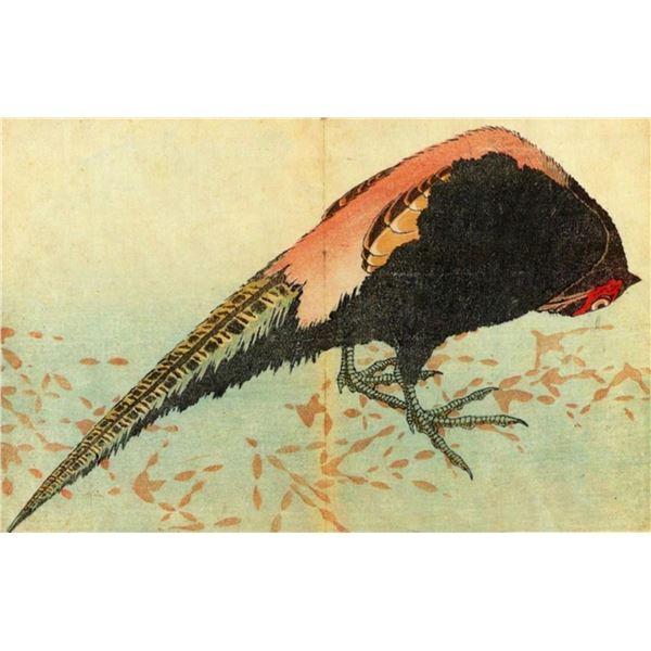 Hokusai - Pheasant on the Snow
