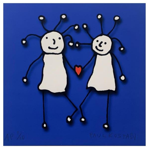 SPRKL Love (Blue) by Kostabi, Paul