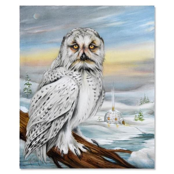 Igloo and Arctic Snow Owl by Katon Original
