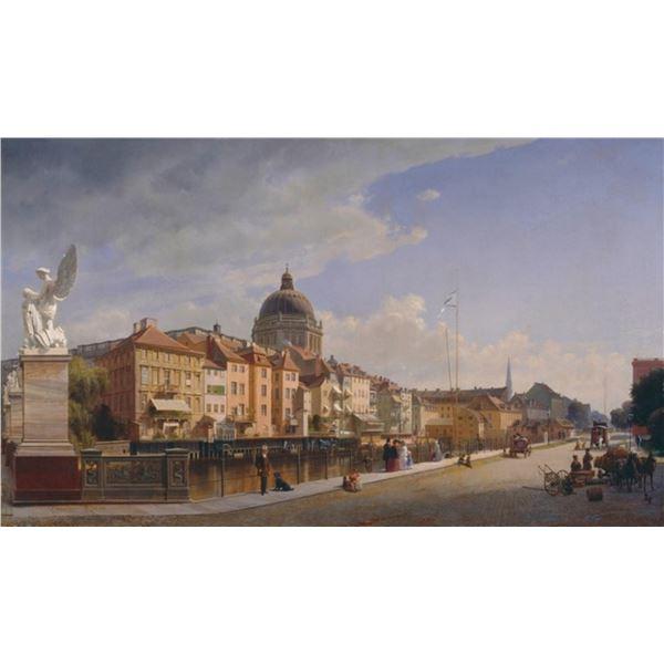 Eduard Gaertner - Rear View of the Houses
