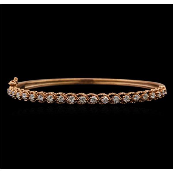 14KT White Gold 1.33 ctw Diamond Bracelet