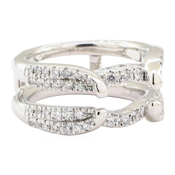 0.70 ctw Diamond Ring Guard - 14KT White Gold