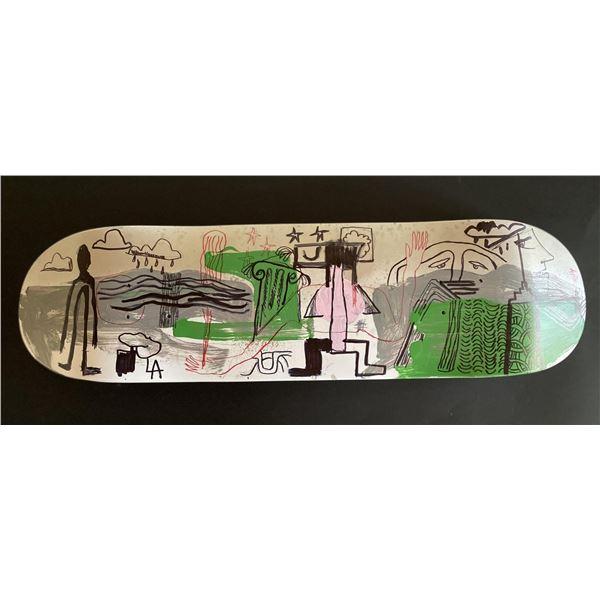 "Handpainted skateboard ""LA Raised"" by Gino Perez"
