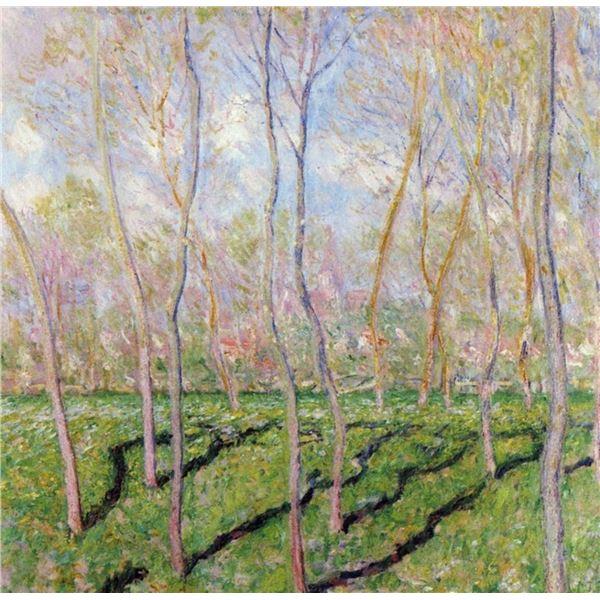 Claude Monet - Trees in Winter, Look at Bennecourt