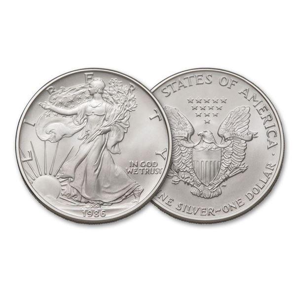 1986 American Silver Eagle .999 Fine Silver Dollar Coin