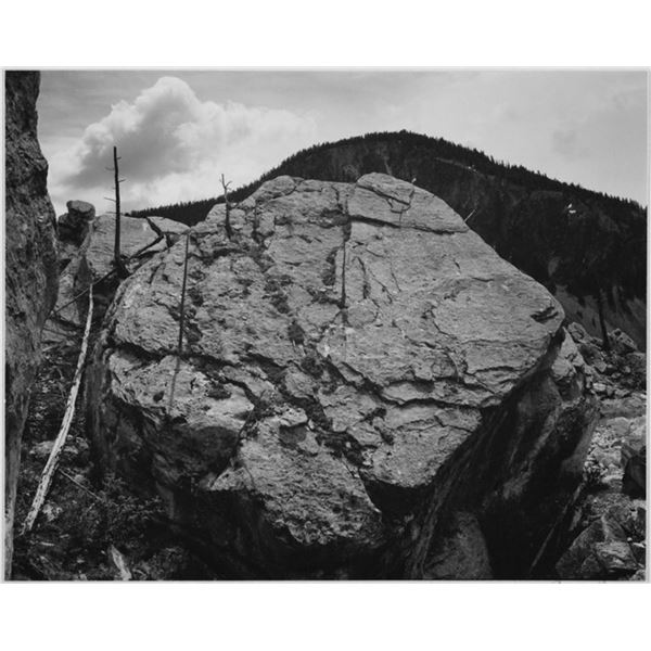Adams - Rocks at Silver Gate, Yellowstone National Park