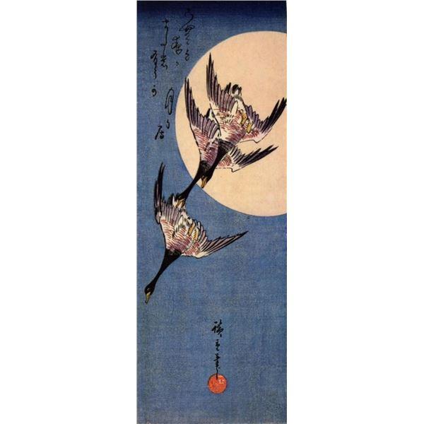 Hiroshige Three Geese Flying